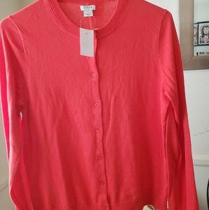 J. Crew Red Cardigan Size M NWT